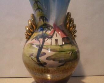 Hand painted vintage Italian Vase Charming