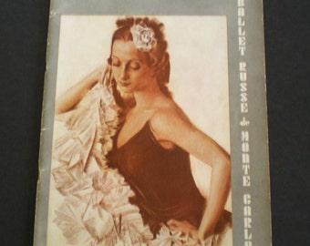 Ballet Russe de Monte Carlo Brochere 1949 - 50  Sergi Denham Director Ballerina's Ballet Dancers