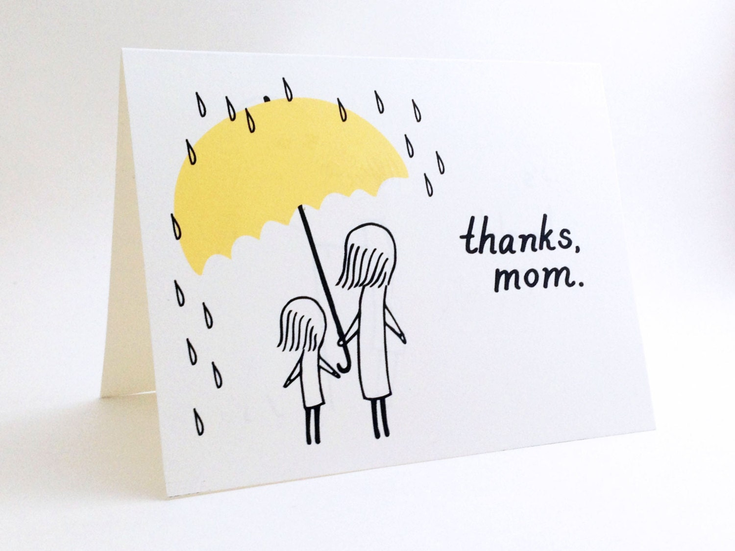 Simple Mothers Day Card // Cute I Love You Card For Mum
