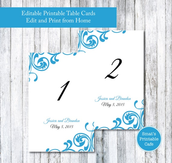flourish wedding table cards template diy printable flourish
