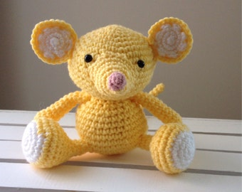 Mouse doll, crochet, amigurumi