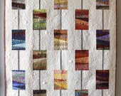 """Modern quilt pattern, scrappy quilt - """"Beads on a String"""" - create a modern quilt with scraps, 54"""" x 60"""" - more sizes - Instant download PDF"""