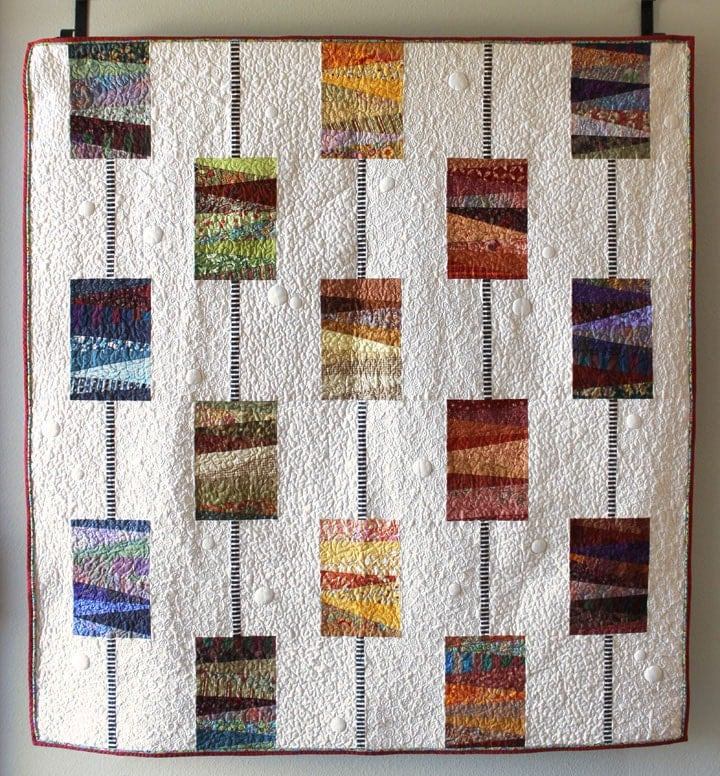 Modern quilt pattern scrappy quilt Beads on a : modern quilting patterns - Adamdwight.com