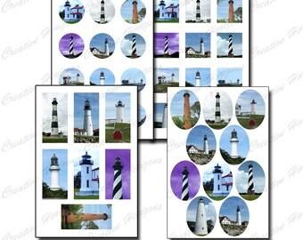 Lighthouse Digital Collage Sheet Set – Printable Instant Download