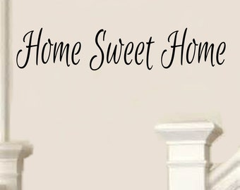 Home Sweet Home Decal #6 -Vinyl Home Sweet Home Wall Decals Home Sweet Home Foyer Decor Foyer Decals Family Wall Decals -Family Decals