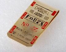 "Rare Vintage Collectible Churchill Downs 100 ""FnV7X"" No.7 Race Money Clip 7 MAY 1987"