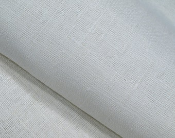"""White Oyster Wedding Linen Burlap Fabric Decorator - Dense Heavy weight - 39"""" W - ECO-friendly - Sold By The Yard"""