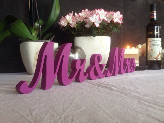 DIY Or Painted Mr And Mrs Wedding Signs, Wooden Letters