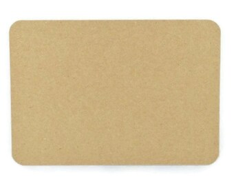 KRAFT  POSTCARDS (Set of 10 cards) - 350gsm Round Edge Kraft Blank Post Card Size Set (16.5cm x 10.2cm)