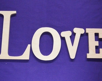 "14"" Wooden Wall Letters- Unpainted"