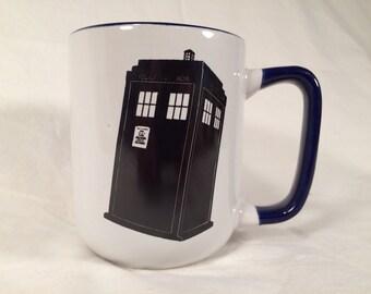 Doctor who tardis mug trust me i'm The Doctor dr who Tennant Smith Baker quotes Tardis time lord coffee mug