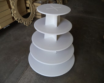 5 tier cupcake stand XL, round shape