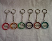 Bottlecap Keychain Geoswag - Not all who wander are lost