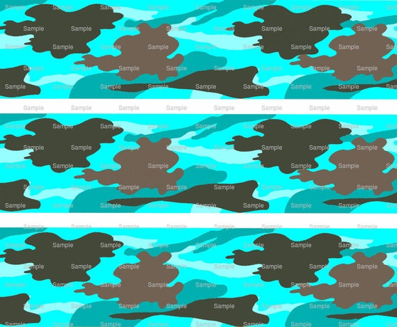 Turquoise Hunting Camo - Birthday Background - Designer Strips - Edible Cake Side Toppers- Decorate The Sides of Your Cake! - D9800