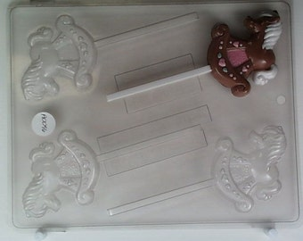 Rocking horse, decorated & cute AO096 Chocolate Candy Mold