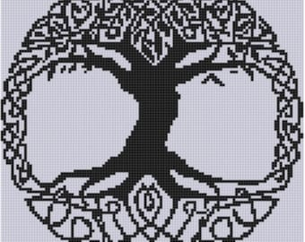 Celtic Tree Cross Stitch Pattern