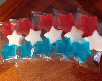 One Hundred (100) Bags of Three HOLIDAY hand Soaps- Memorial Day, 4th of July Independence Day Party Favors