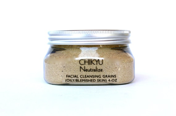 Facial Cleansing Grains, Face Polish with Grains, Botanical Face Polish for Oily Skin,  Neutralize (Oily/Blemished Skin) 4oz