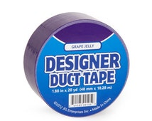Grape Jelly Purple Designer Brand Duct Tape Roll for crafts and Party Supplies duck tape