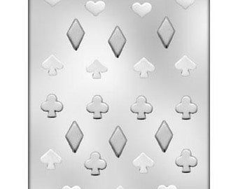 Playing Card Suit Chocolate Candy Molds favors  Birthday party bakery baking Casino spade diamond heart club 90-13412