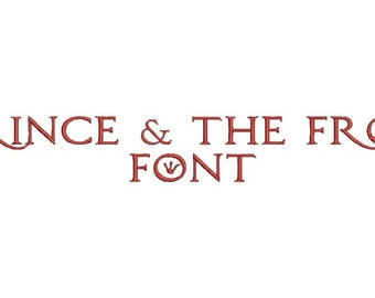Prince & The Frog Font A-Z and 0 -9 Embroidery Design Now Come with .BX Ready Font!