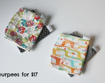 set of  any 2 cotton and minky burpees