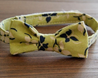 Custom Made Infant  Bow Tie Made From 100% Organic Cotton Fabric
