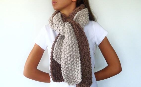 Bufanda de lana hecha a mano bufanda de punto para mujer - Bufandas de lana originales ...