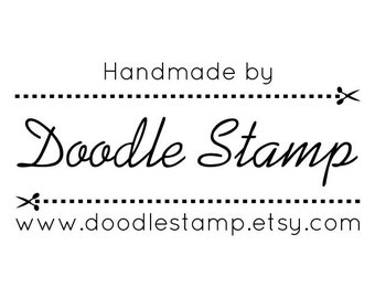 "CUSTOM HANDMADE BY Text Stamp - personalized rubber stamp, rubber stamp, custom rubber stamp, custom branding stamp, 2.5""x1"" (hms3)"