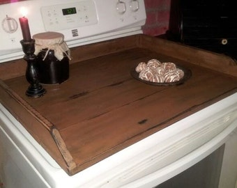 Primitive Distressed Stove Cover Noodle Board