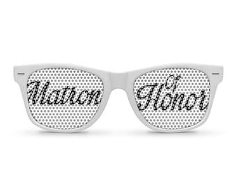 Matron of Honor White Retro Party Sunglasses