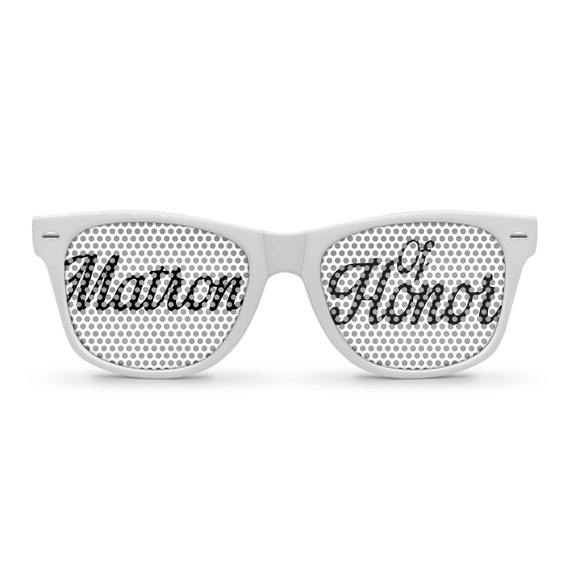 Matron of Honor White Retro Party Sunglasses
