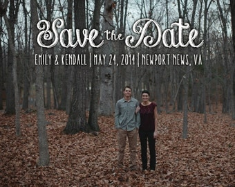 50 printed Save the Date Postcards