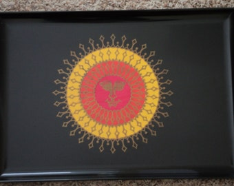 Couroc Aztec Sun Large Tray
