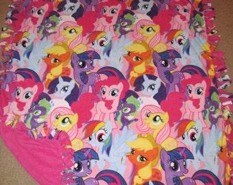 My Little Pony Fleece Tie Blanket