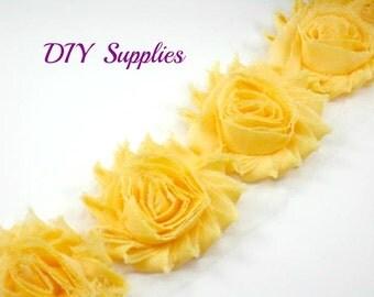 Apricot - Shabby flower trim - Shabby fabric flowers
