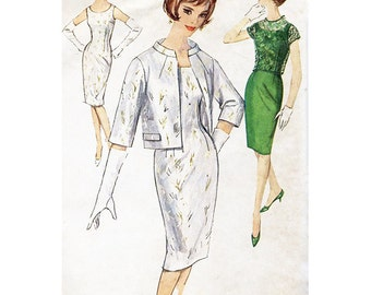 Simplicity Sewing Pattern 4687 Juniors & Misses One-Piece Dress, Jacket and Over-Blouse Size 14 Used