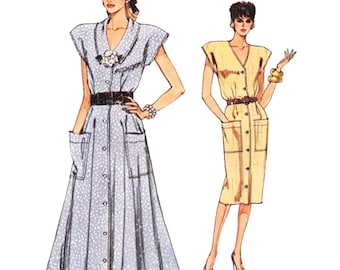 Vogue Sewing Pattern 9904 Misses' Dress Size:  14-16-18  Used