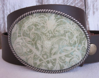 bohemian belt buckle women's belt buckle green accessories cowgirl buckle gypsy belt buckle mens belt buckle resin belt buckle