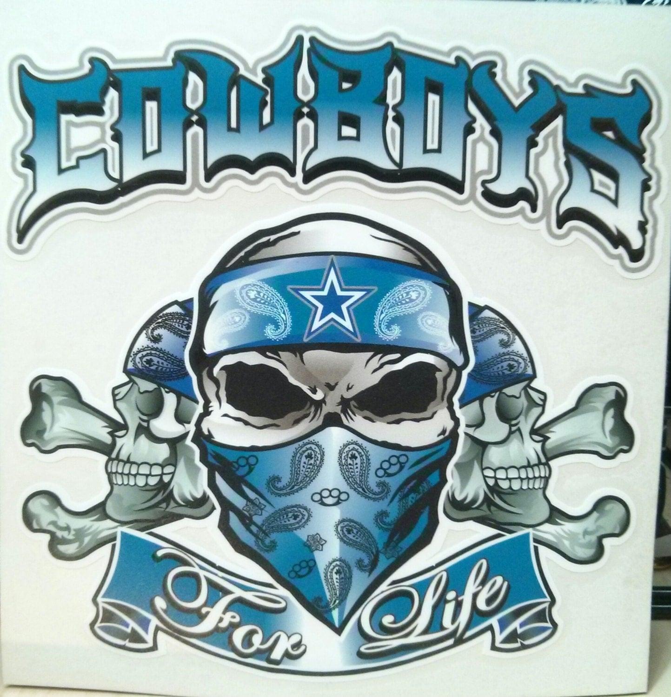 Dallas Cowboys Skulls Window Decal