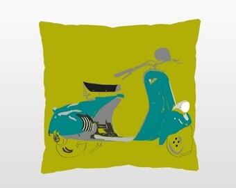 Vintage Vespa Pillow (Colors available)