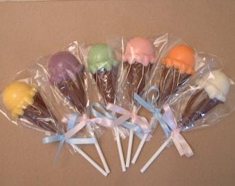 Chocolate Ice Cream Lollipops