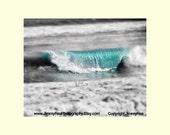 Ocean photograph, surf wall decor, office art, coastal print , seascape art, beach house photo, black and white photography,dreamy sea print