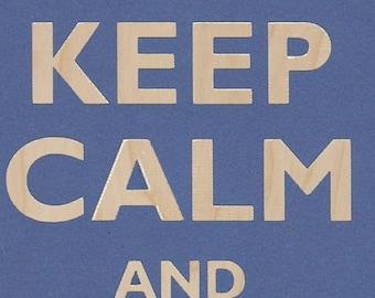 Keep Calm and Play on Football - Plywood Wood Print Poster Wall Art FOOTBALL 0081