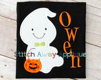 Halloween Boy Ghost Machine Applique Design