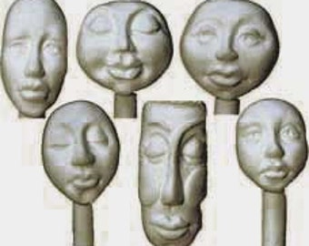 Moldb2 - Six Face Bead mold, Plus 5 Texture Designs by Maureen Carlson