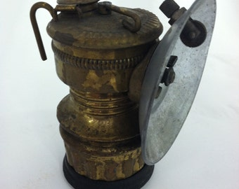 Brass Miners Carbide Lamp