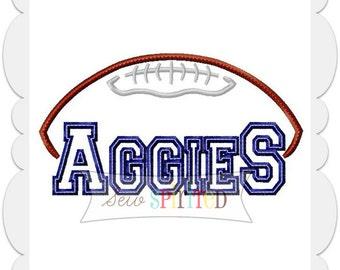 Aggies Football Applique Embroidery Design