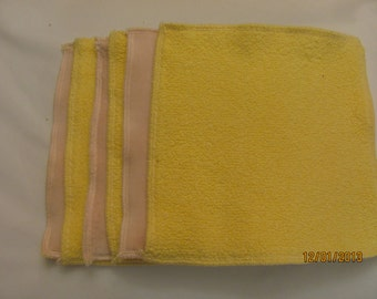 6 Cloth wipes, 2 sided with cotton velour and cotton sherpa, cloth diaper accessory