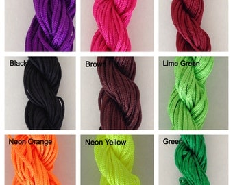1.5mm Multiple Color Options Nylon Cord Braided Cord Size 1.5mm Length 13 yards